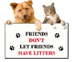 Friends Don't Let Friends Have Litters logo